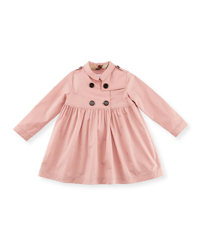 Lillybeth Double-Breasted Dress, Rose, Size 12M-3Y