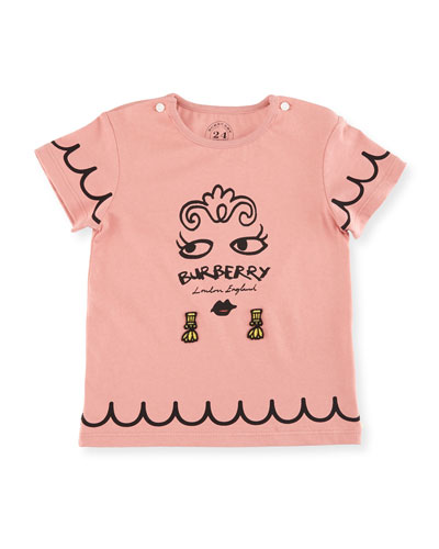 Girls' Mini Fiona Logo Graphic T-Shirt, Size 6M-3Y