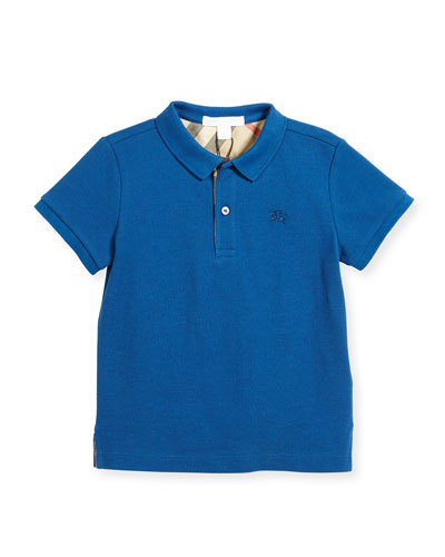 Burberry Boys' Cotton Polo, Blue, Size 4