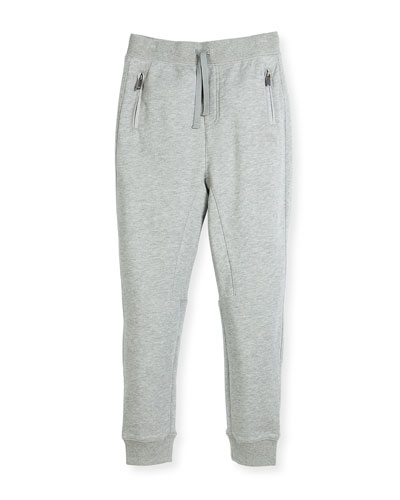 Phill Cotton Track Pants, Gray, Size 4-14