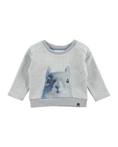 Doc Squirrel Sweatshirt, Gray, Size 12-24 Months
