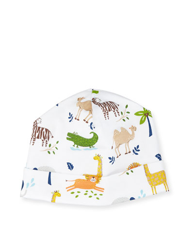 Jungle Jaunt Pima Baby Hat, Navy/White