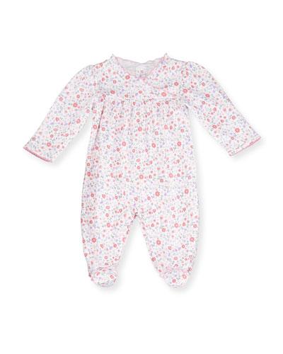 Kissy Kissy Fall Blossoms Pima Footie Pajamas, Pink, Size Newborn - 9