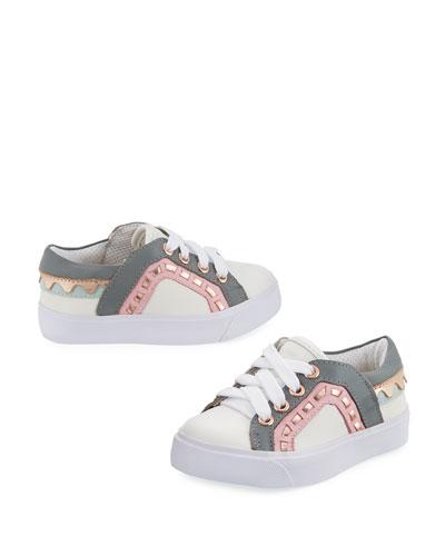 Riko Mini Low-Top Sneaker, Toddler/Youth Sizes 5T-2Y