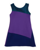 Preppy Perfect Colorblock Shift Dress, Purple, Size 4-6X
