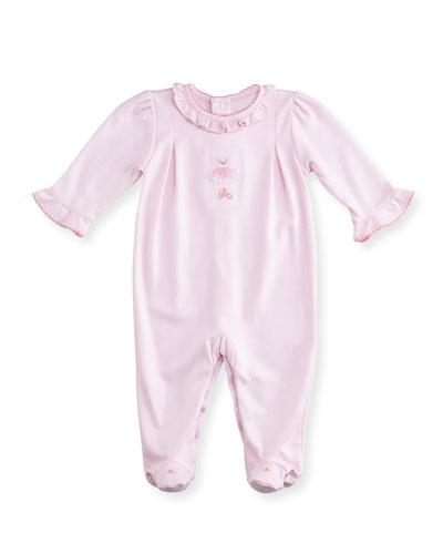 Tiny Tutus Embroidered Footie Pajamas, Size Newborn-9 Months