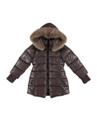 Sparkling Quilted Jacket, Size 8-16