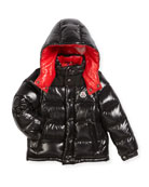 Andersen Quilted Coat w/ Contrast Lining, Size 8-14