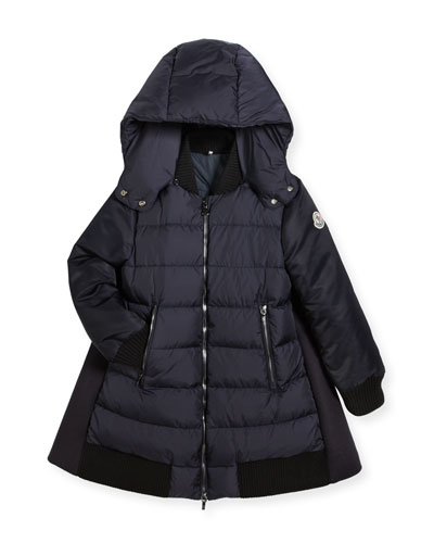 Blois Quilted and Wool-Blend Puffer Jacket, Size 8-14