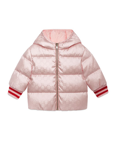 GG Reversible Hooded Puffer Coat, Size 12-36 Months