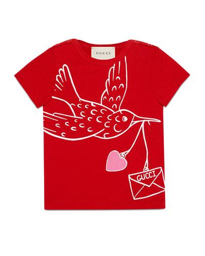 Short-Sleeve Flying Bird T-Shirt, Size 6-36 Months