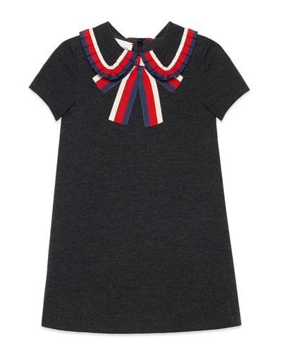 Short-Sleeve Sylvie Web Dress, Size 4-12