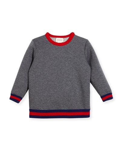 Web Knit Trim Sweatshirt, Size 9-36 Months
