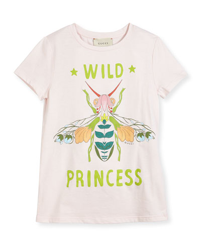 Short-Sleeve Wild Princess Bee Tee, Size 4-12
