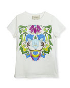 Short-Sleeve Lion T-Shirt, Size 4-12