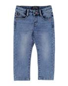 Stretch Denim Jeans, Size 3-7