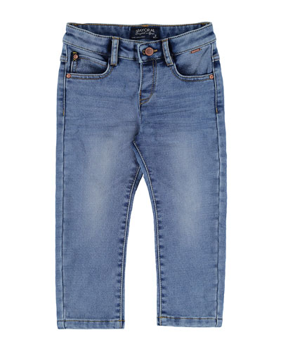 Stretch Denim Jeans, Size 3-7