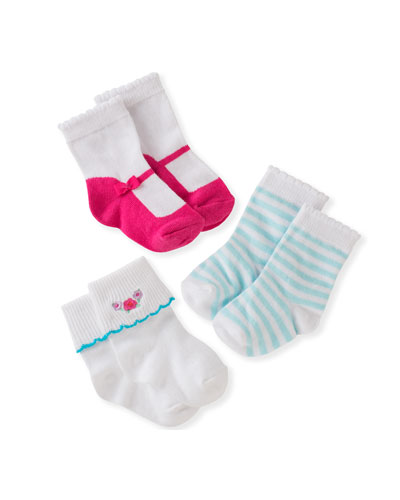 three-pack boxed sock set, infant