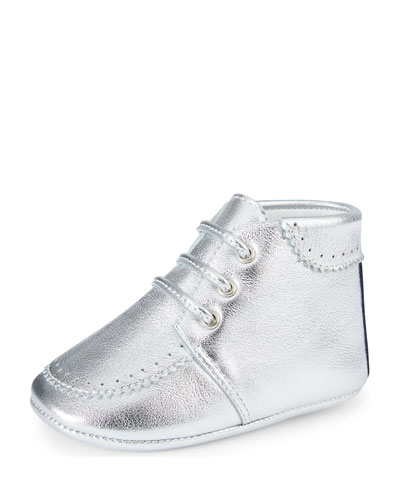 Metallic Leather Bootie, Infant Sizes 0-12 Months