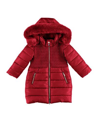 Smock Padded Jacket, Size 3-7