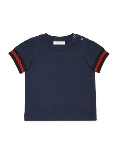 Short-Sleeve Slub Jersey Tee, Size 9-36 Months