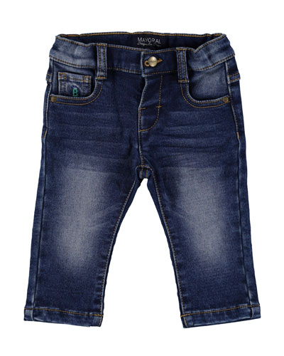 Dark Wash Denim Jeans, Size 6-36 Months
