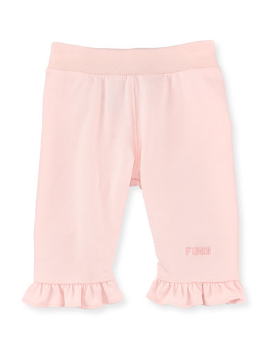 Sweatpants with Ruffle Trim, Size 12-24 Months