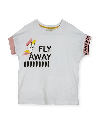Girls' Short-Sleeve Fly Away T-Shirt, Size 3-5