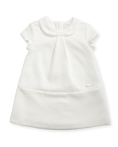 A-Line Knit Dress w/ Quilted Trim, Size 6-36 Months