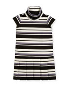 Striped Knit Dress, Size 7-14