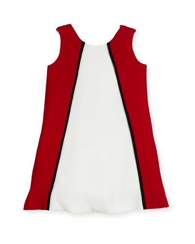 Colorblock A-Line Dress, Size 2-6
