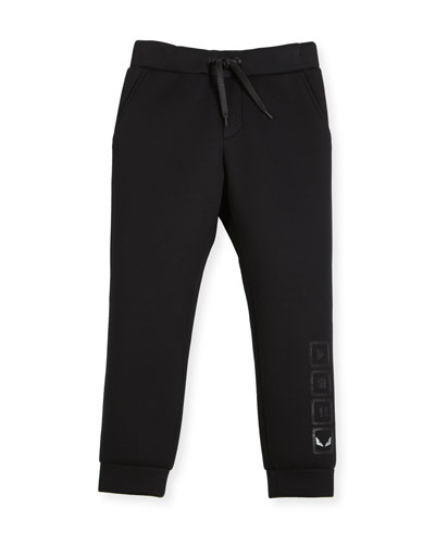 Boys' Neoprene Jogging Pants, Size 6-8