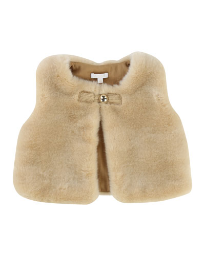 Sleeveless Faux-Fur Vest, Size 12-18 Months