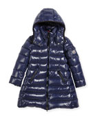 Moka Down Puffer Coat, Dark Blue, Size 8-14