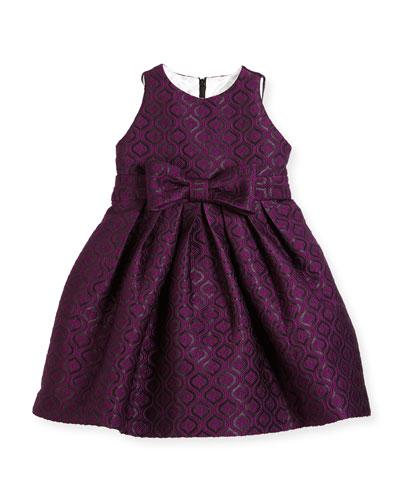 Geo Jacquard Dress, Size 7-14