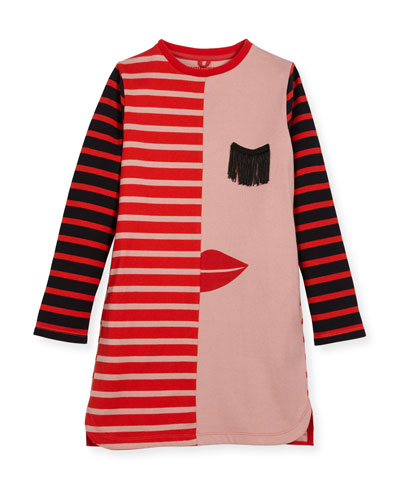 Kora Striped Jersey Dress, Size 4-14