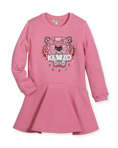 Bubble Tiger Sweater Dress, Size 8-12