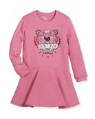 Bubble Tiger Sweater Dress, Size 14-16