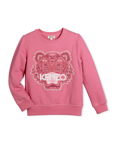 Bubble Beads Tiger Sweatshirt, Size 14-16
