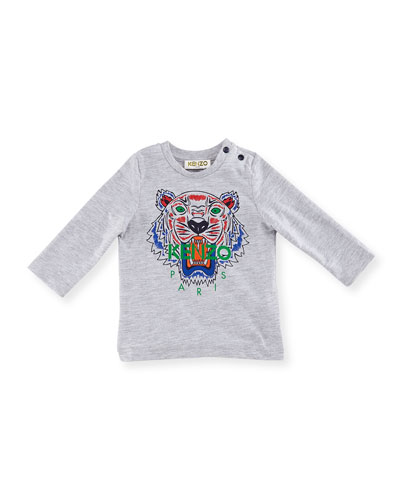 Long-Sleeve Logo Tiger Tee, Size 12-18 Months