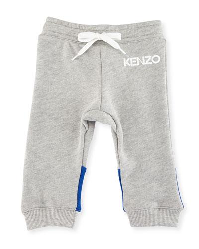 Logo Drawstring Sweatpants, Gray, Size 2-3Y