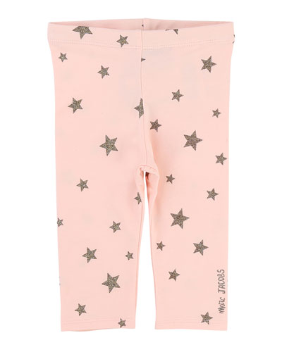 Allover Star-Print Stretch Leggings, Size 2-3
