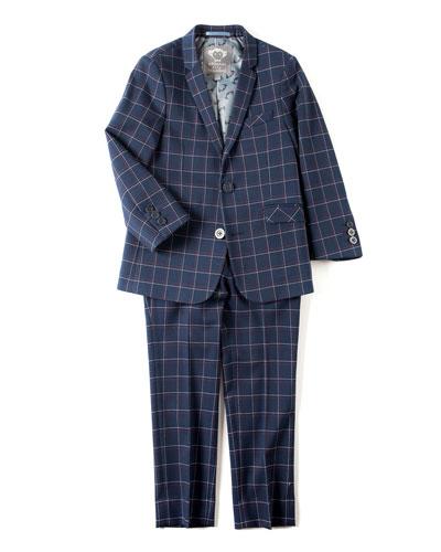 Boys' Two-Piece Plaid Mod Suit, 2T-14