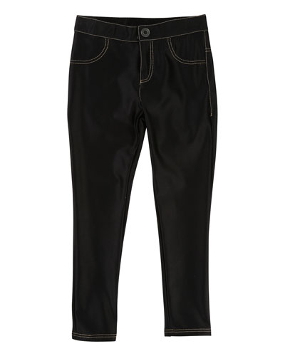 Satiny Stretch Trousers, Size 4-5 LITTLE MARC JACOBS