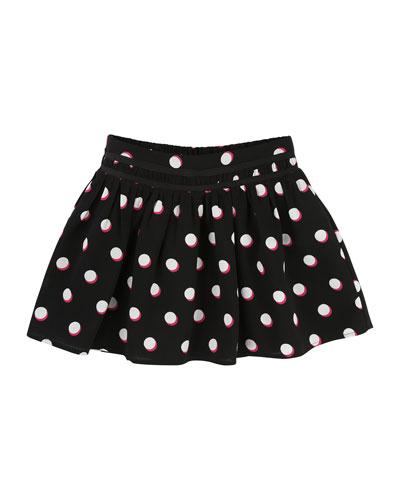 Mini Me Allover Dots Skirt, Size 6-10