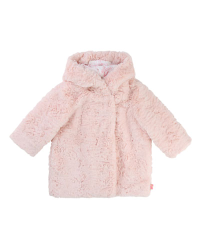 Faux-Fur Hooded Coat, Size 12-18 Months