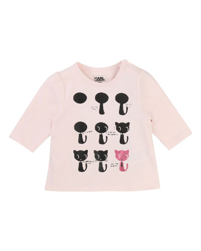 How To Draw A Cat Tee, Size 3-12 Months