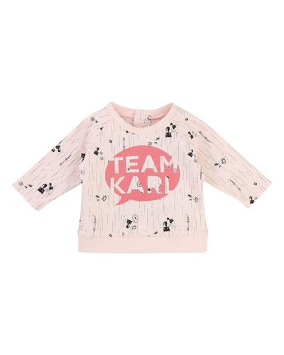 Team Karl Allover Print Sweatshirt, Size 3-12 Months
