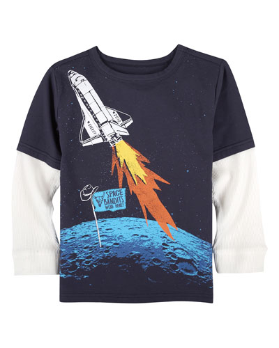 Space Bandits Graphic T-Shirt, Size 2-7