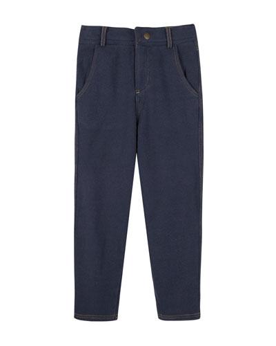 Acid Wash Knit Pants, Size 3-24 Months